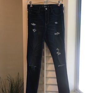 Hollister High-rise Super Skinny Distressed Jeans